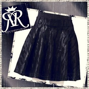 Rock & Republic Snakeskin Print Skirt.
